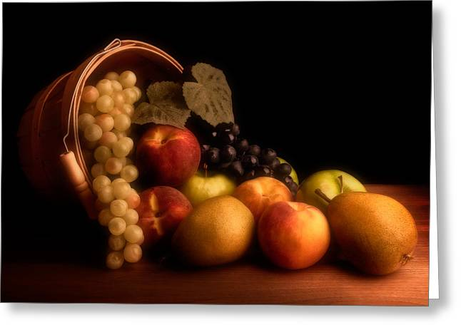 Cornucopia Greeting Cards - Basket Of Fruit Greeting Card by Tom Mc Nemar