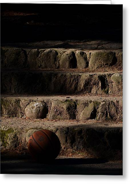 Stepping Stones Greeting Cards - Basketball Greeting Card by Janice Herley