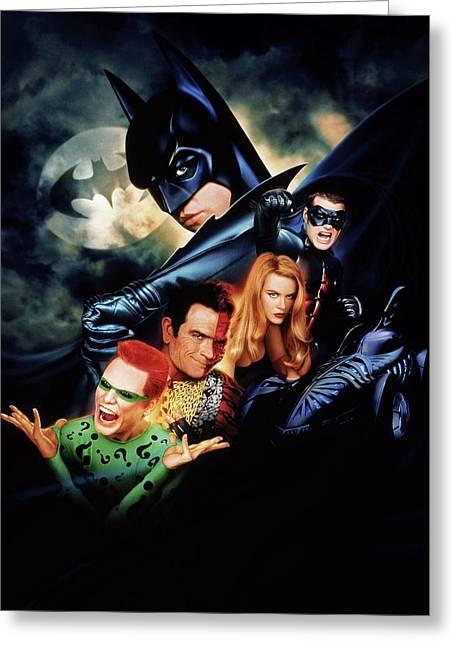 Batman Forever 1995  Greeting Card by Caio Caldas