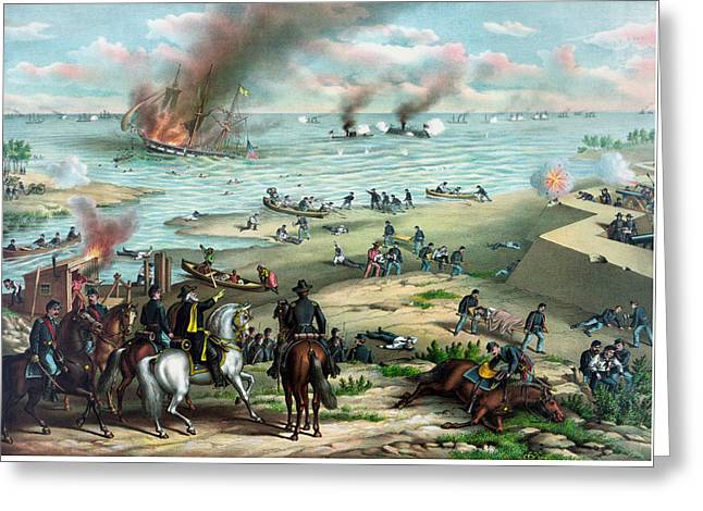 Monitors Greeting Cards - Battle Between The Monitor And Merrimac Greeting Card by War Is Hell Store