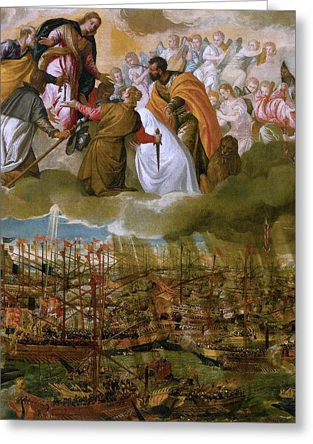 Battle Of Lepanto Greeting Card by Paolo Veronese