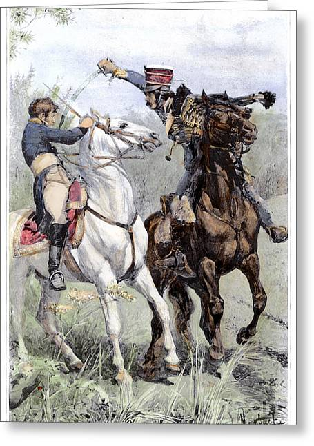Invade Greeting Cards - Battle Of Saalfeld, 1806 Greeting Card by Granger