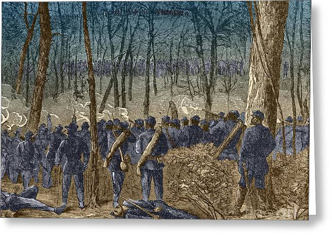 The General Lee Photographs Greeting Cards - Battle Of The Wilderness, 1864 Greeting Card by Photo Researchers