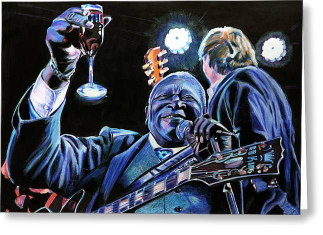 Toast Greeting Cards - BB King Greeting Card by Chris Benice