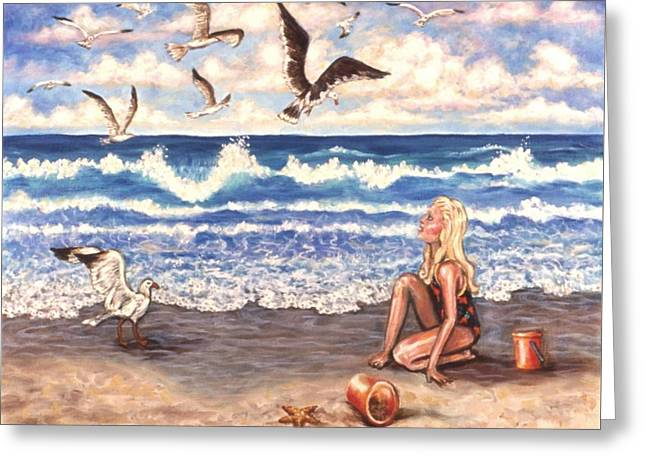 Beach Bliss Greeting Card by Linda Mears