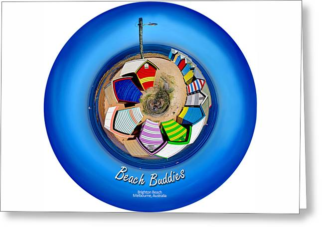 Beach Buddies  Greeting Card by Az Jackson