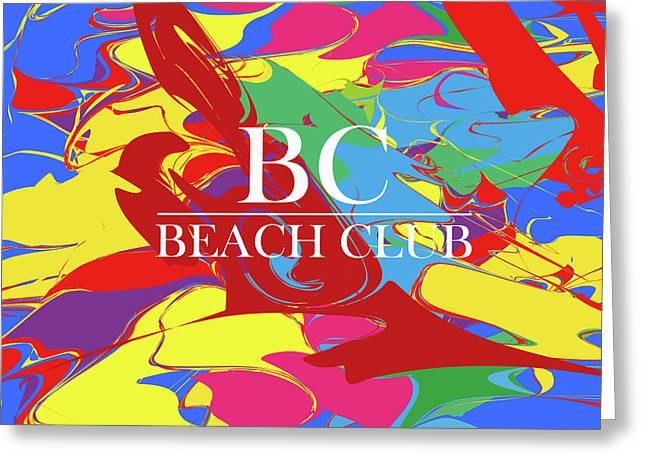 Beach Club 9 Greeting Card by Johannes Murat