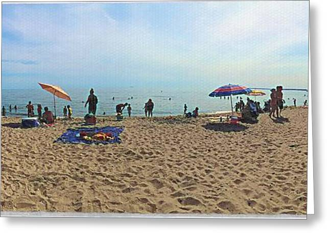 Shower Curtain Greeting Cards - Beach Day Greeting Card by MaryLee Parker