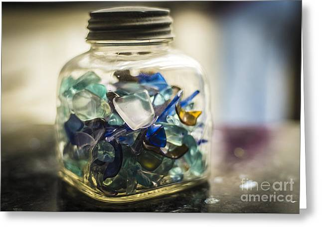 Beach Glass Greeting Card by Rich Governali