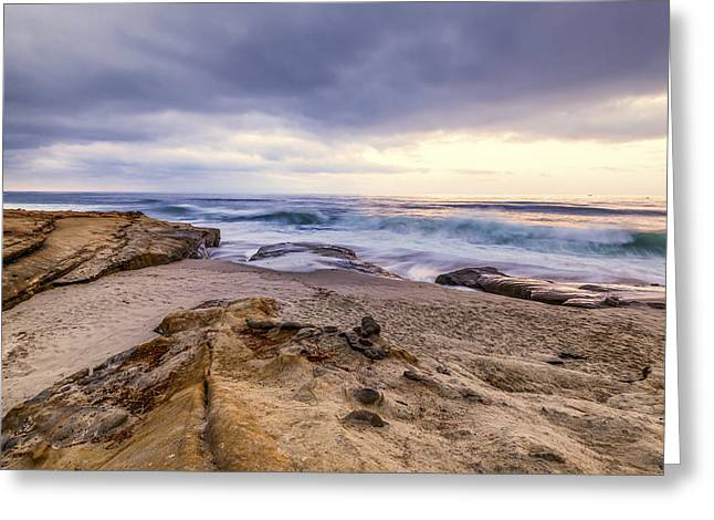 California Ocean Photography Greeting Cards - Beach Morning Greeting Card by Joseph S Giacalone