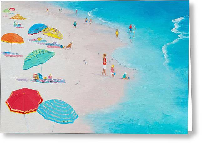 Beach Cottage Style Greeting Cards - Beach Painting - One Summer Greeting Card by Jan Matson