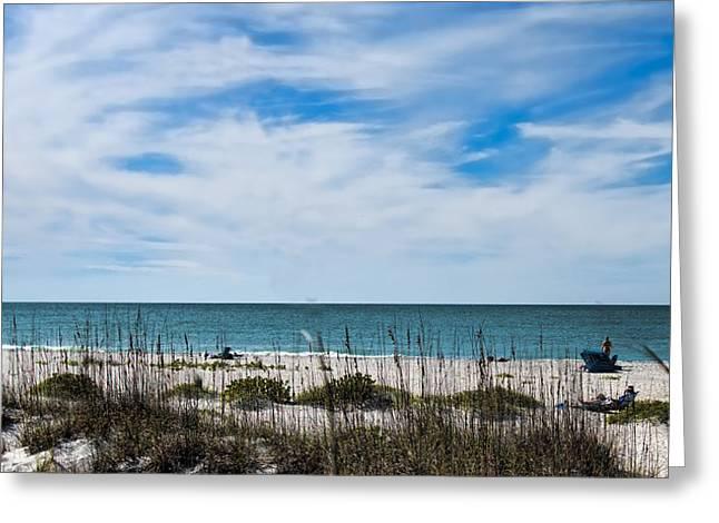 Boca Grande Greeting Cards - Beach Scene - Boca Grande Florida Greeting Card by Jon Berghoff