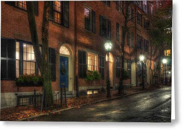 Beacon Hill Sidewalks Greeting Card by Joann Vitali