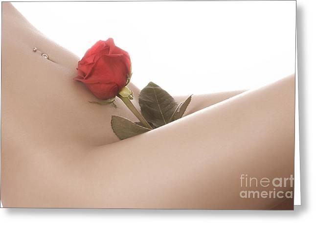 Beautiful Female Body Greeting Card by Oleksiy Maksymenko