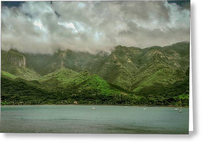 Sailboat Photos Greeting Cards - Beautiful Marquesas Island Greeting Card by Michelle Maria