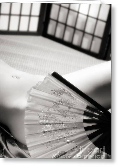 Shoji Greeting Cards - Beautiful Naked Woman Body Greeting Card by Oleksiy Maksymenko
