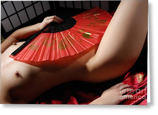 Geisha Greeting Cards - Beautiful Naked Woman Greeting Card by Oleksiy Maksymenko