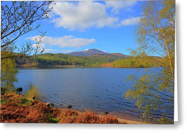 Beautiful Scottish Loch Garry Scotland Uk Lake West Of Invergarry On The A87 South Of Fort Augustus  Greeting Card by Michael Charles