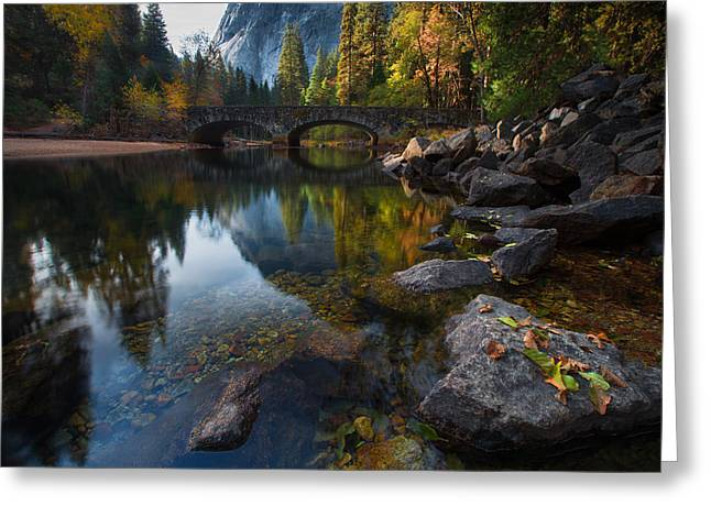 Waterfall Photography Greeting Cards - Beautiful Yosemite National Park Greeting Card by Larry Marshall