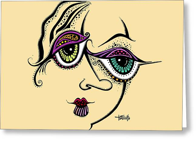 Woman Of Color Greeting Cards - Beauty in Imperfection Greeting Card by Tanielle Childers
