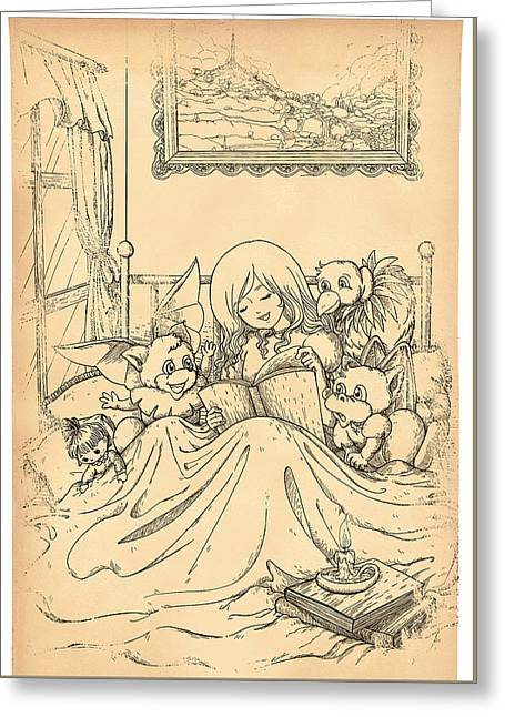 Francis Greeting Cards - Bedtime for All Greeting Card by Reynold Jay