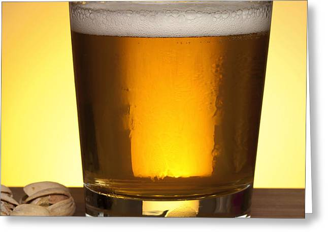 Beer in glass Greeting Card by Blink Images