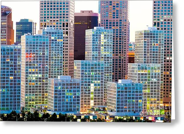Recently Sold -  - Residential Structure Greeting Cards - Beijing Central Business District Greeting Card by Fototrav Print