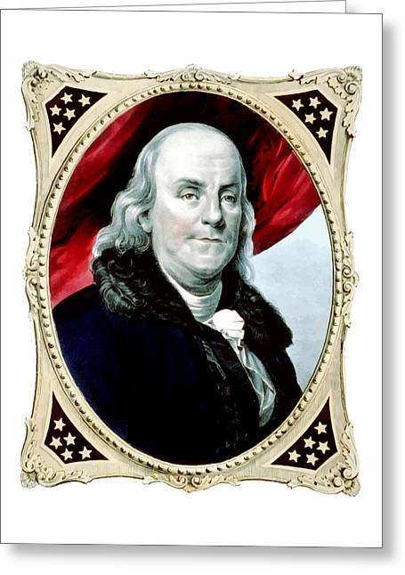 1776 Greeting Cards - Ben Franklin Greeting Card by War Is Hell Store