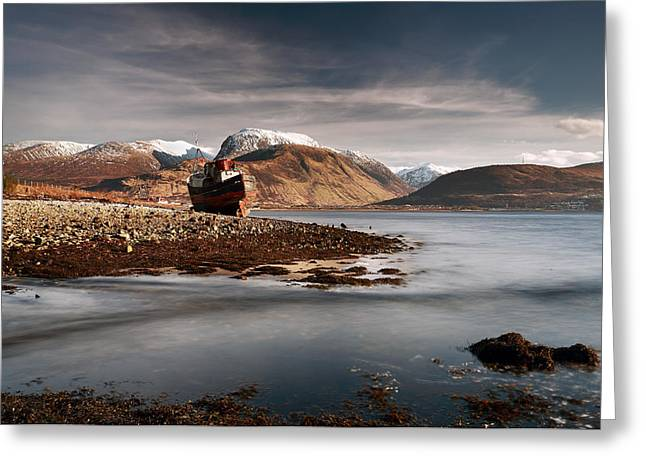 Snow Capped Greeting Cards - Ben Nevis Greeting Card by Grant Glendinning