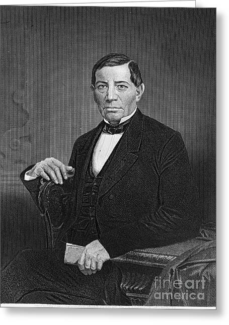 Statesman Greeting Cards - Benito Pablo Juarez Greeting Card by Granger