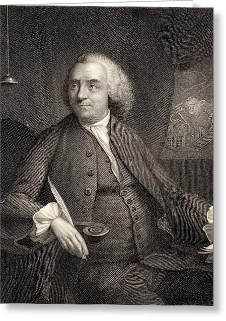 Franklin Drawings Greeting Cards - Benjamin Franklin, 1706-1790. American Greeting Card by Ken Welsh