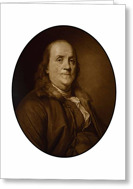Ben Greeting Cards - Benjamin Franklin Greeting Card by War Is Hell Store