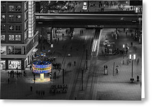 Colourkey Greeting Cards - Berlin - Alexanderplatz Colourkey Greeting Card by Jean Claude Castor