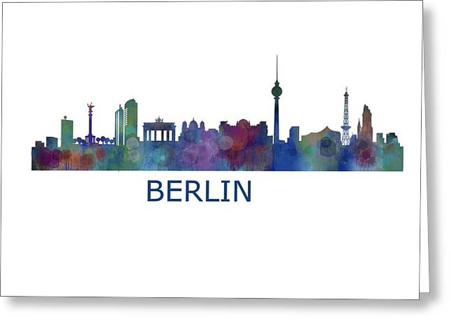 Haus Digital Greeting Cards - Berlin City Skyline HQ 1 Greeting Card by HQ Photo