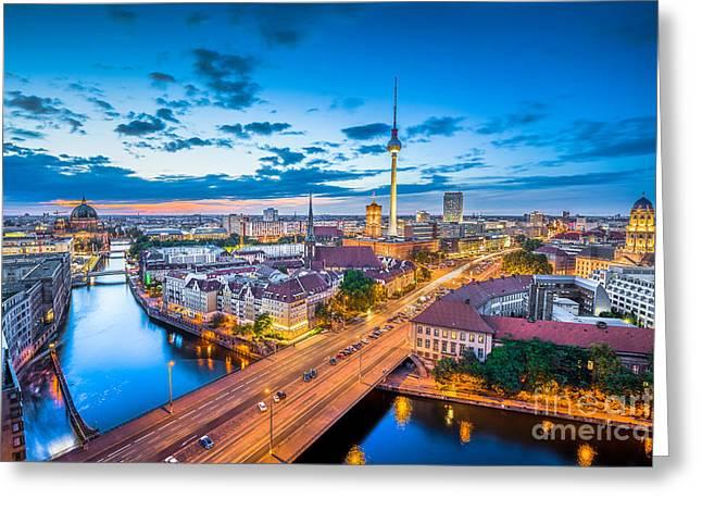 Alexanderplatz Greeting Cards - Berlin Greeting Card by JR Photography