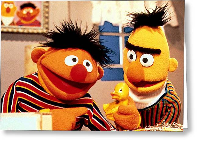 Bert And Ernie Greeting Card by Sesame Street