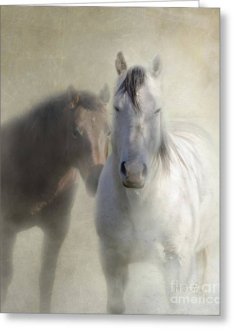 Quarter Horses Photographs Greeting Cards - Best Friends Greeting Card by Betty LaRue