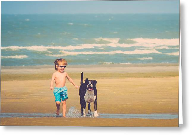 Kid Photographs Greeting Cards - Best Friends Greeting Card by Wim Lanclus
