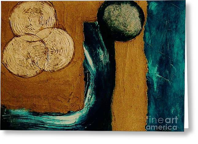 Mix Medium Mixed Media Greeting Cards - Between A Rock And A Hard Place Greeting Card by Marsha Heiken