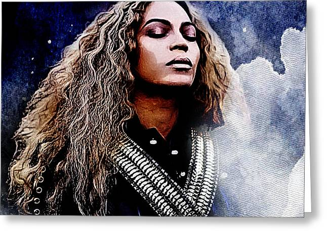 Beyonce  Greeting Card by The DigArtisT