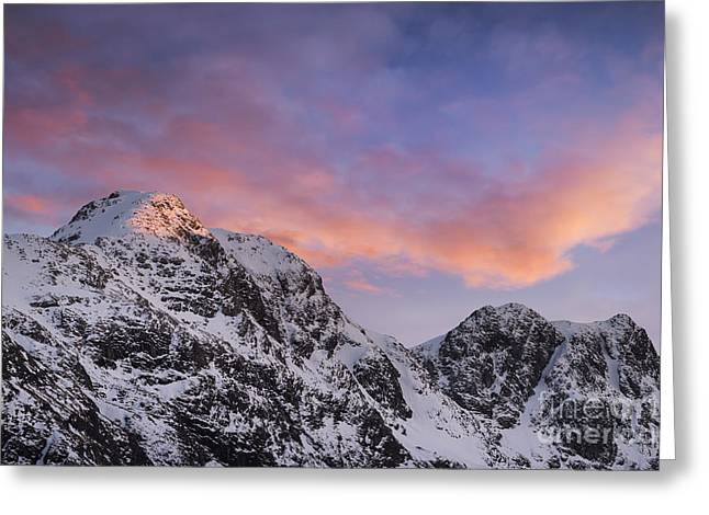 Snow Capped Photographs Greeting Cards - Bidean nam Bian - Glen Coe Greeting Card by Rod McLean