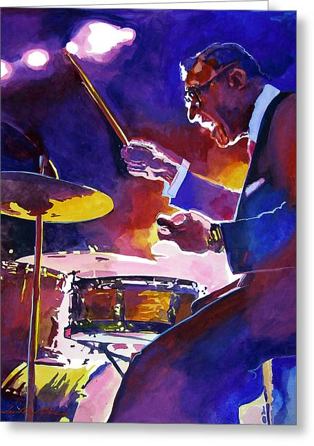 Drummer Greeting Cards - Big Band Ray Greeting Card by David Lloyd Glover