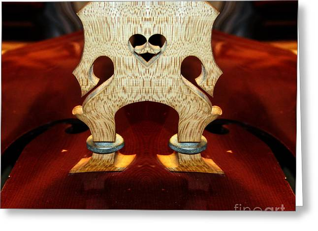 Double Bass Greeting Cards - Big Foot  Greeting Card by Steven  Digman
