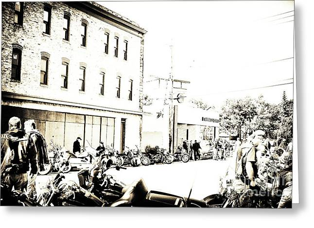 Artography Greeting Cards - Bikes Historic Inglewood Greeting Card by Jayne Logan Intveld