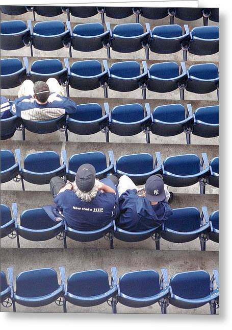Yankee Stadium Bleachers Greeting Cards - Birds Eye View Greeting Card by JAMART Photography