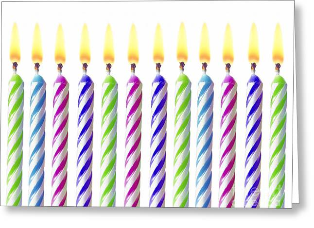 Birthday Card Greeting Cards - Birthday Candles Greeting Card by Diane Diederich