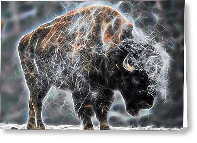 Bison Mixed Media Greeting Cards - Bison Collection Greeting Card by Marvin Blaine