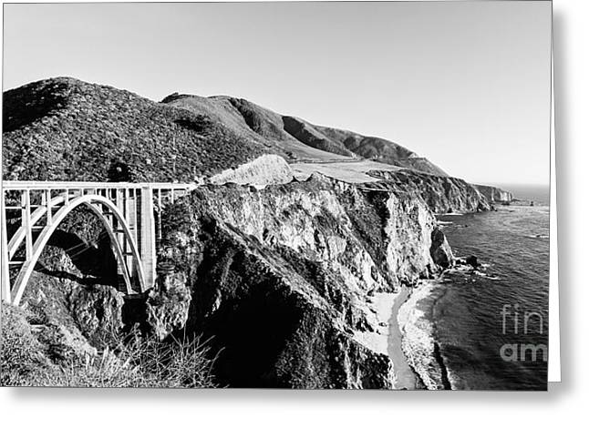 California Beaches Greeting Cards - Bixby Bridge California Coast Greeting Card by Scott Pellegrin