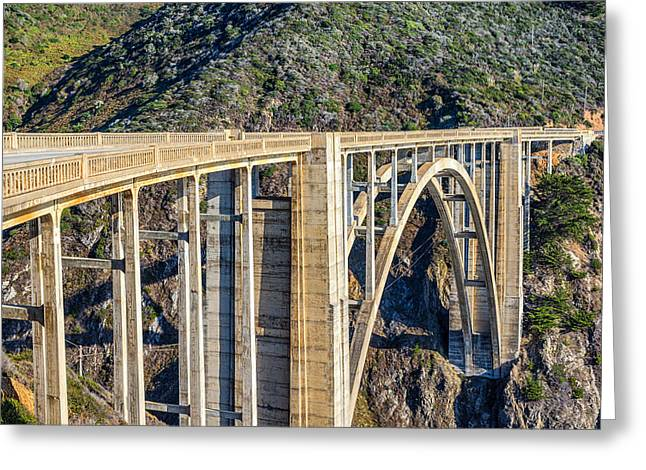 Big Sur California Greeting Cards - Bixby Bridge Greeting Card by Joseph S Giacalone