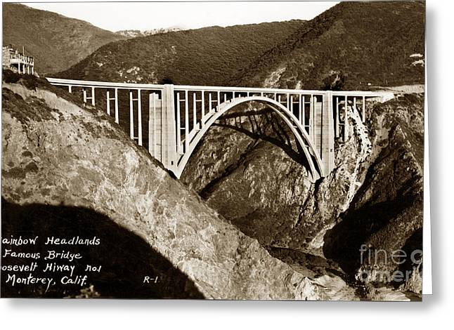 Bixby Creek Aka Rainbow Bridge Bridge Big Sur Photo  Greeting Card by California Views Mr Pat Hathaway Archives
